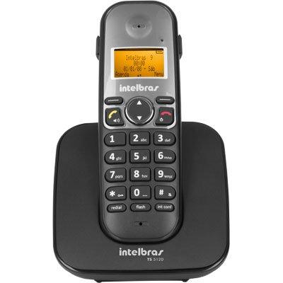 Telefone s/ fio Dect 6.0 c/ identificador de chamadas preto TS5120 Intelbras CX 1 UN