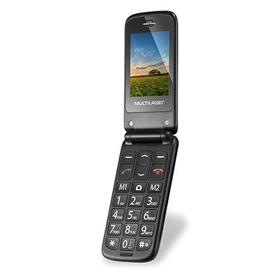 "Telefone celular Flip Vita Dual Chip VGA 2.4"" Azul P9020 Multilaser CX 1 UN"