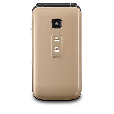 "Telefone celular Flip Vita Dual Chip VGA 2.4"" Dourado P9043 Multilaser CX 1 UN"