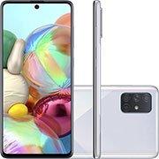 Smartphone Galaxy A71 A715F, Android 9, Câmera Frontal de 32MP, Câmera Traseira Quádrupla 64MP+12MP+5MP+5MP, 128GB de Armazenamento, Tela de 6.7, Cinza - Samsung CX 1 UN