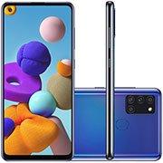 """Smartphone Galaxy A21s A217M, Câmera Frontal 13MP, Câmera Traseira Tripla 48MP+8MP+2MP+2MP, Android 10, 64gb de Armazenamento, Câmera de 48mp, Tela de 6.5"""", Azul - Samsung CX 1 UN"""