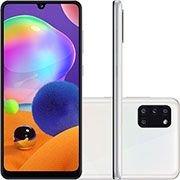 Smartphone Galaxy A31, Android 10, Memória Interna de 128gb, Câmera Frontal 20mp, Tela de 6,4, Câmera Traseira 48mp + 8mp (Ultra Wide) + 5mp (Profundidade) + 5mp (Macro), Branco - Samsung CX 1 UN
