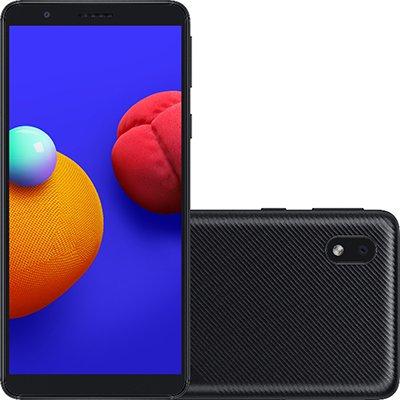 Smartphone Galaxy A01 Core, Android 10, 32GB de Armazenamento, Câmera Frontal de 5MP, Câmera Traseira de 13MP + 2MP, Tela 5.3,  Preto - Samsung CX 1 UN