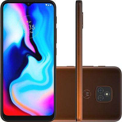 Smartphone Moto E7 Plus XT2081-1, Android 10, 64GB de Armazenamento, Câmera Frontal de 8MP, Câmera Traseira Dupla de 48MP + 2MP, Tela 6.5, Bronze Ambar - Motorola CX 1 UN