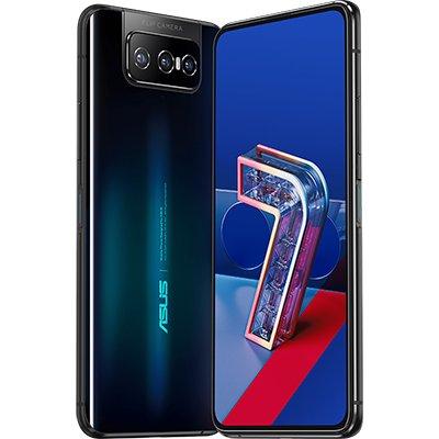 "Smartphone Zenfone 7 ZS670KS, 128GB de Armazenamento, Flip Câmera Tripla: 64MP+12MP+8MP, Snapdragon 865 5G, 6GB de memória RAM, Bateria 5.000 mAh, Tela de 6,67"", Preto - Asus CX 1 UN"