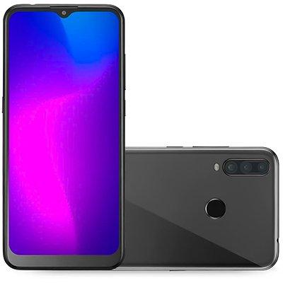 Smartphone Multilaser G Pro 2 P9125, Android 10, 32GB de Armazenamento, Câmera Frontal 8MP, Câmera Traseira Tripla 13 MP + 2MP + 5MP, Tela de 6.55, Preto CX 1 UN
