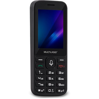 "Telefone celular Zapp 2,4"" 3g 512mb preto P9098 Multilaser CX 1 UN"