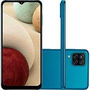 Smartphone Galaxy A12 SM-A125M, Android 10, 64GB de Armazenamento, Câmera Frontal de 8MP, Câmera Traseira Quádrupla de 48MP + 5MP + 2MP + 2MP, Tela 6.5, Azul - Samsung CX 1 UN