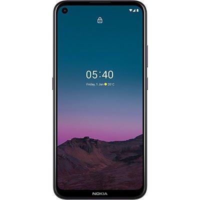 "Smartphone Nokia5.4, Android 10, 128GB de Armazenamento, Câmera Frontal de 16MP, Câmera Traseira Quadrupla de 48MP + 5MP + 2MP + 2MP, Tela de 6,39"", Roxo, NK026, Nokia - CX 1 UN"