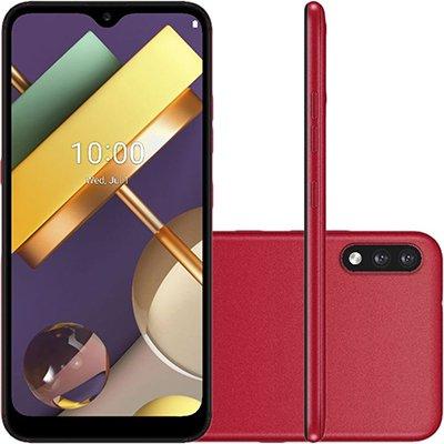 Smartphone K22+ LMK200BAW, Android 10, 64GB de Armazenamento, Câmera Frontal de 5MP, Câmera Traseira Dupla 13MP + 2MP, Tela 6.2, Vermelho - LG CX 1 UN