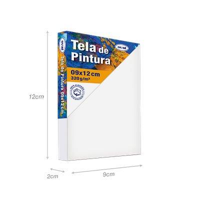 Tela para pintura em algodão 9x12 TMD912 Oval PT 1 UN