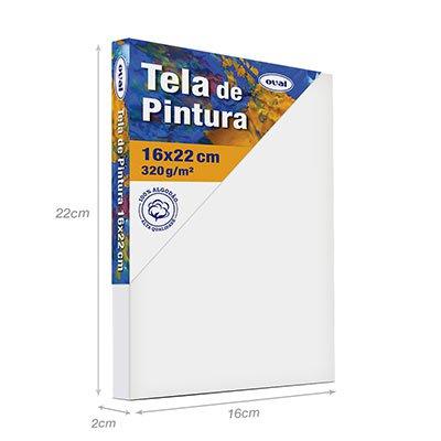 Tela para pintura em algodão 16x22 TMD1622 Oval PT 1 UN