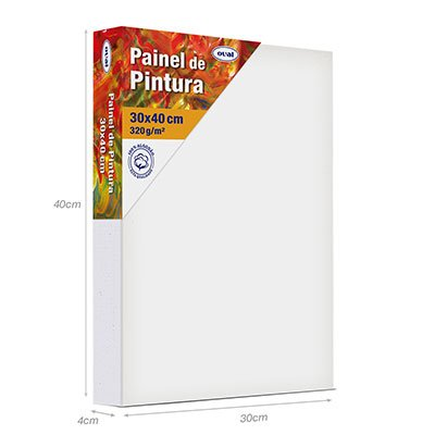 Painel para pintura painel 30x40 PMD3040 Oval PT 1 UN
