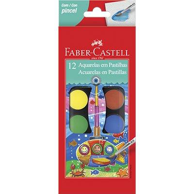Aquarela 12 cores 19.0012 Faber Castell PT 1 UN