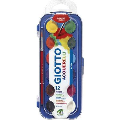 Aquarela 12 cores Giotto pastilha 30mm 351200 Canson CX 1 UN