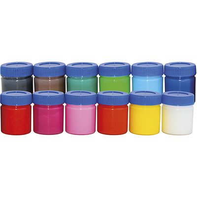 Tinta guache 15 ml c/12 cores 017-000 Licyn CX 1 UN