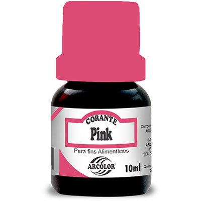 Corante 10ml pink CL10PK Arcólor PT 1 UN