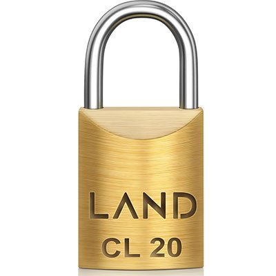 Cadeado 20mm latão 2540 Land BT 1 UN