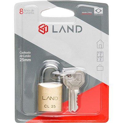 Cadeado 25mm latão 2541 Land BT 1 UN