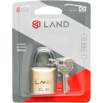 Cadeado 30mm latão 2542 Land BT 1 UN