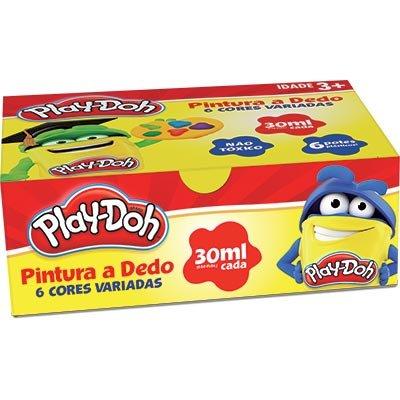 Pintura a dedo 30ml (c/6 cores) Play-Doh 11317 Play Doh CX 1 UN