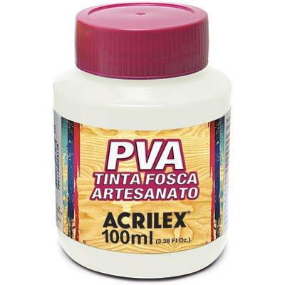 Tinta PVA p/ artesanato branco 100ml 03210 Acrilex PT 1 UN