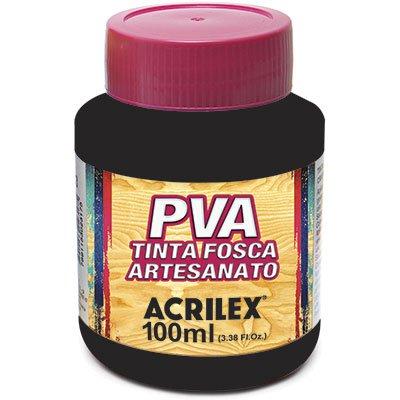 Tinta PVA p/ artesanato preto 100ml 03210 Acrilex PT 1 UN