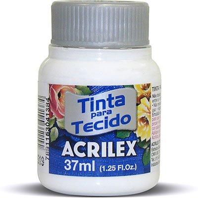 Tinta p/tecido fosca 37ml branco 04140 Acrilex PT 1 UN