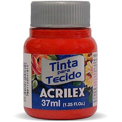 Tinta p/tecido fosca 37ml vermelho tomate 04140 Acrilex PT 1 UN
