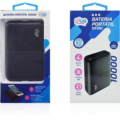 Carregador portátil usb p/Smartphone 10000mAh I2GBAT009 I2Go CX 1 UN