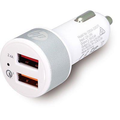 Carregador veicular c/2 portas USB turbo bc 55749 HP049GBSLV HP BT 1 UN