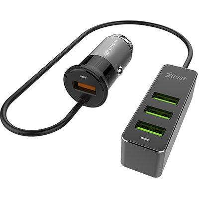 Carregador veicular c/4 portas USB UCV-Q430BK C3Tech CX 1 UN