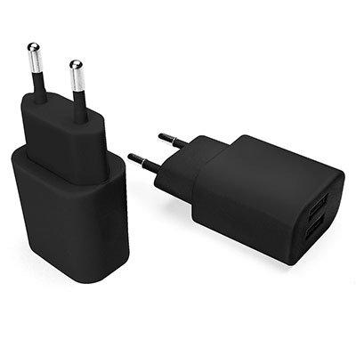 Carregador de tomada c/2 saídas USB bivolt preto ESACB2 Geonav BT 1 UN