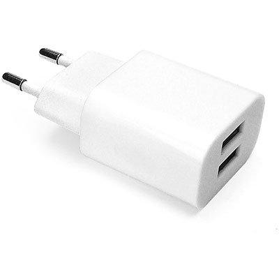 Carregador de tomada c/2 saídas USB bivolt branco ESACW2 Geonav BT 1 UN