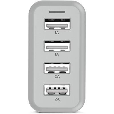 Carregador de tomada c/4 saídas USB bivolt WC48A Elg BT 1 UN