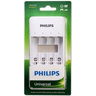 Carregador p/pilha recarregável AA/AAA sem pilhas Philips BT 1 UN