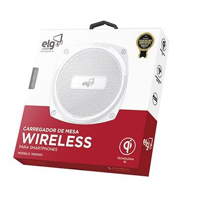 Carregador Wireless de mesa branco WQ1WH Elg CX 1 UN