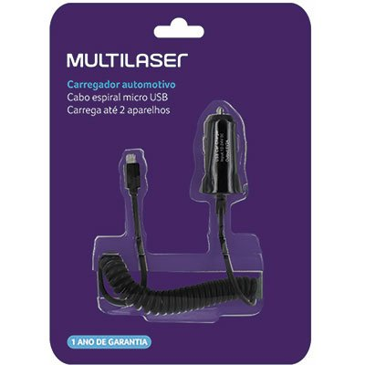 Carregador veicular c/2 portas USB CB083 Multilaser BT 1 UN