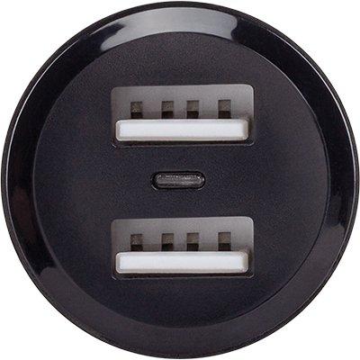 Carregador veicular USB 2 portas ECV2FAST Intelbras PT 1 UN