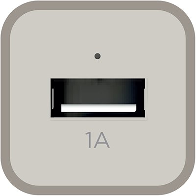 Carregador veicular c/1 porta USB branco CC1S Elg BT 1 UN