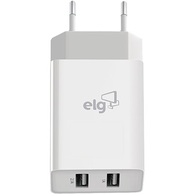 Carregador de tomada c/2 saídas USB branco WC124A Elg CX 1 UN