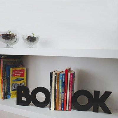 Suporte p/livros Book preto MDPT02 Geguton PT 1 UN