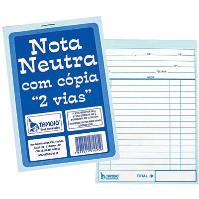 Bloco nota neutra 25x2 107x154mm com cópia 1005 Tamoio PT 20 BL