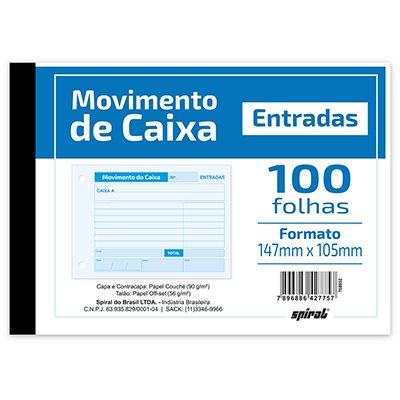 Movimento do caixa entrada  105x147mm 100fls 203 Spiral UN 1 UN