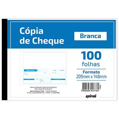 Cópia de cheque 100 folhas 148x209mm 221 Spiral UN 1 UN