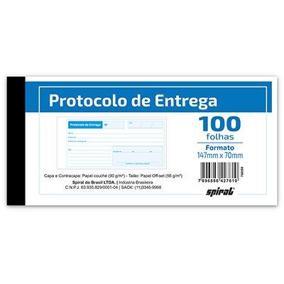Protocolo de entrega 100fls 147x70mm 261 Spiral UN 1 UN