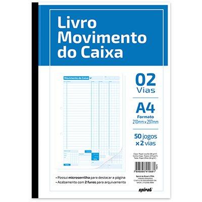Livro movimento do caixa 50x2 A4 201 Spiral PT 1 UN