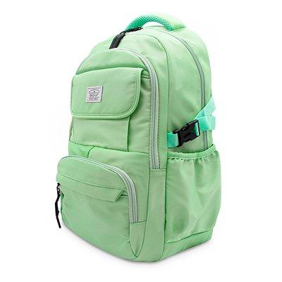 """Mochila p/notebook até 15"""" em poliéster verde pastel Baohua PT 1 UN"""