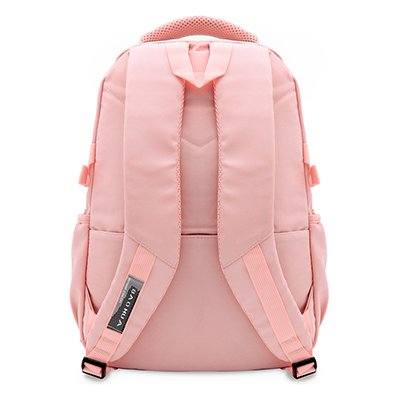 """Mochila p/notebook até 15"""" em poliéster rosa pastel Baohua PT 1 UN"""