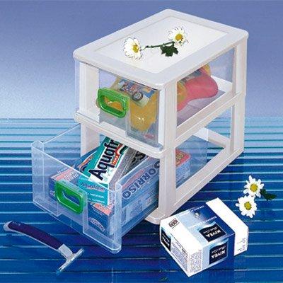 Gaveteiro plástico de mesa c/2 gavetas sortido gv53 São Bernardo PT 1 UN